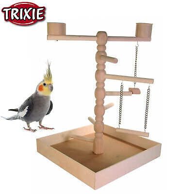 Trixie Wooden Small Parrot Parakeet Cockatiel Playground Play Stand Cage 5658 Hm