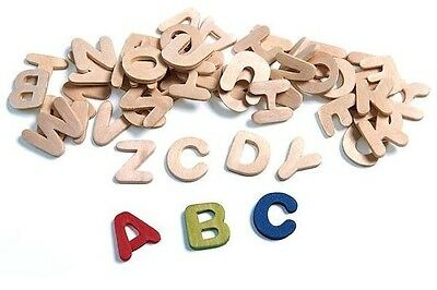 """26 Wood Letters 7/8"""" Tall Complete Alphabet Great Value Wooden ABC"""