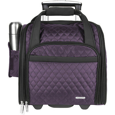 Travelon Wheeled Underseat Carry-On With Back-Up Bag - Luggage Totes and Satchel