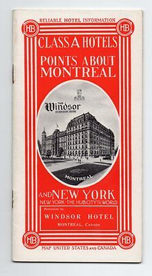 RELIABLE HOTEL INFORMATION CLASS A HOTELS POINTS ABOUT MONTREAL NEW YORK 1912