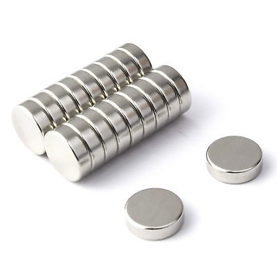 20 Strong Magnets Neodymium (10mm Dia x 3mm) * Pull force 1.75Kg * Powerful Disc