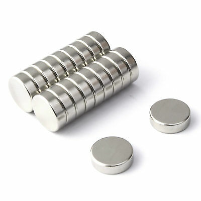 20 Strong Magnets Neodymium ( 10mm Dia x 3mm ) *Pull force 1.75Kg* Powerful Disc