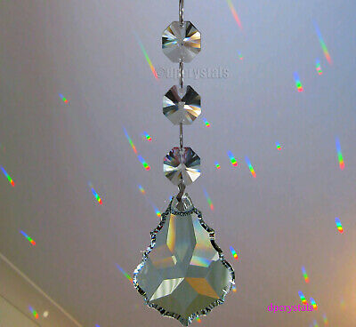 Sun Catcher Hanging Crystal Feng Shui Rainbow Prisms add to Mobile or Wind Chime