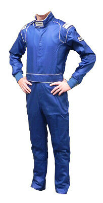 Ultra Shield 30053 Blue 2XL Single Layer 1-Piece Racing Driving Race Suit
