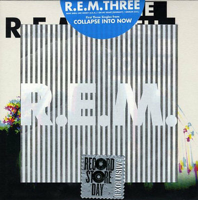r.e.m. - three-first 3 singles from collapse into now (SINGLE 7 INCH NEU!!!)