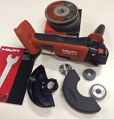 New HILTI AG 500-A18 18v 21.6v Cordless Grinder Cut Off Tool Only With 25 Discs