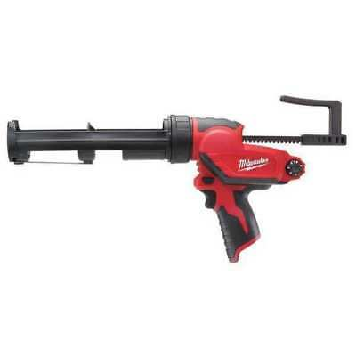 MILWAUKEE 2441-20 Cordless Caulk Gun,12V,10 Oz