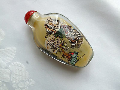 CHINESE QUILIN LANDSCAPE SNUFF PERFUME BOTTLE WEDDING BIRTHDAY PARTY GIFT P D3
