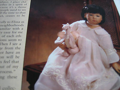 3pg Elissa Glassgold Doll Article  / Zapf Creation / Marianne Clay