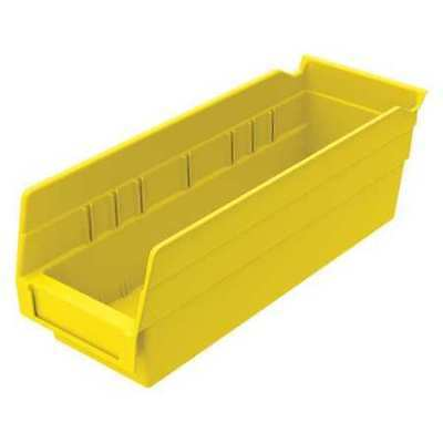 "Yellow Shelf Bin, 11-5/8""L x 4-1/8""W x 4""H AKRO-MILS 30120YELLO"