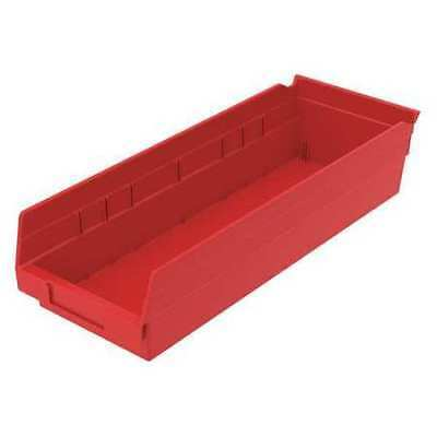 "Red Shelf Bin, 17-7/8""L x 6-5/8""W x 4""H AKRO-MILS 30138RED"