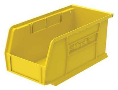 "Yellow Hang and Stack Bin, 10-7/8""L x 5-1/2""W x 5""H AKRO-MILS 30230YELLO"