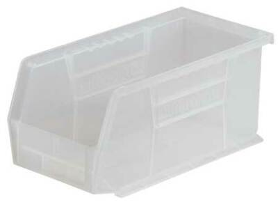 "Clear Hang and Stack Bin, 10-7/8""L x 5-1/2""W x 5""H AKRO-MILS 30230SCLAR"