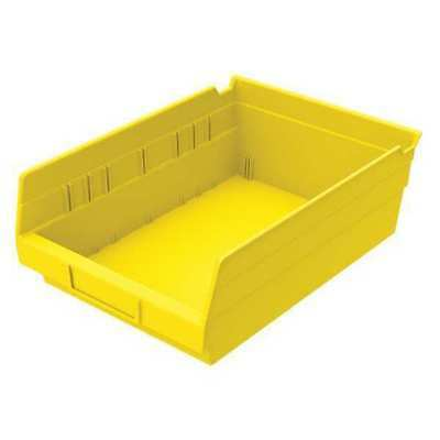 "Yellow Shelf Bin, 11-5/8""L x 8-3/8""W x 4""H AKRO-MILS 30150YELLO"