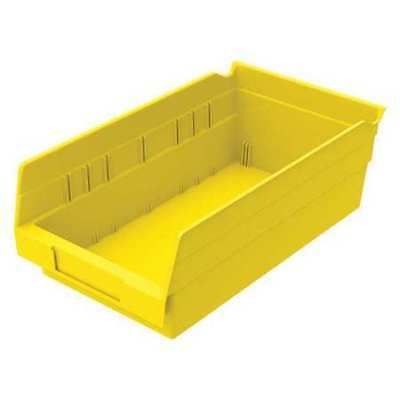 "Yellow Shelf Bin, 11-5/8""L x 6-5/8""W x 4""H AKRO-MILS 30130YELLO"