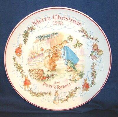 Wedgwood Peter Rabbit 1998 Christmas Plate