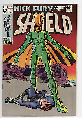 Marvel Comics  Nick Fury, Agent Of Shield  #8  1969  Glossy!