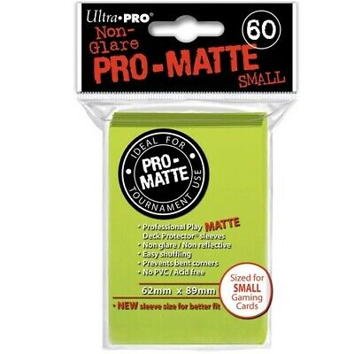 ULTRA PRO 60 PRO MATTE SMALL BRIGHT YELLOW DECK PROTECTOR SLEEVES 84150 fit YGO