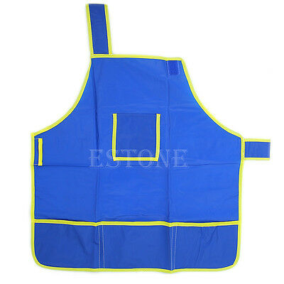 Waterproof Children's Craft Apron Smock for Painting Drawing Kids Art Class Blue