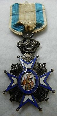 KNIGHTS BREAST BADGE OF THE SERBIAN ORDER OF ST. SAVA military  russian medal