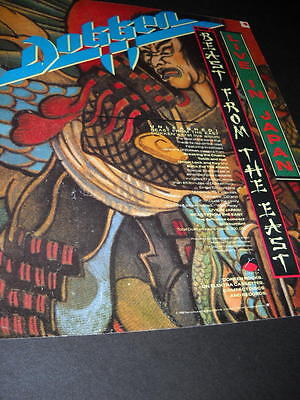 DOKKEN unleashes the beast from the east LIVE IN JAPAN 1988 Promo Poster Ad MINT