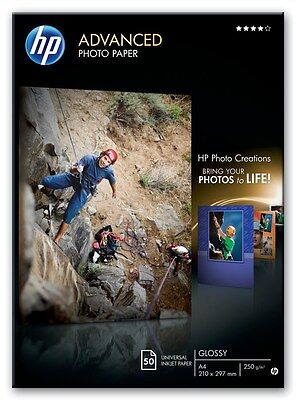 HP Advanced (A4) Glossy Photo Paper (50 Sheets) 250gsm (White)