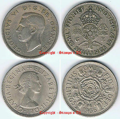 2 Shillings Florin 1947-1967 incl sets  - DISCOUNTS UP TO 80% Available