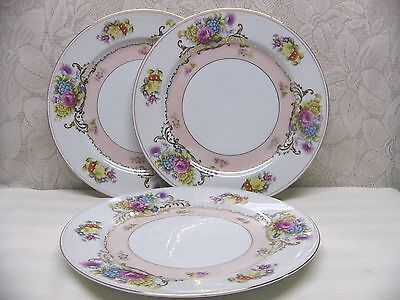 Newcor China*suzanne-Strawberries*3 Dinner Plates