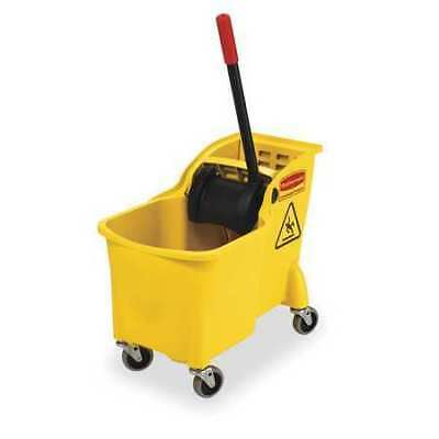 Mop Bucket and Wringer,7.75 gal.,Yellow