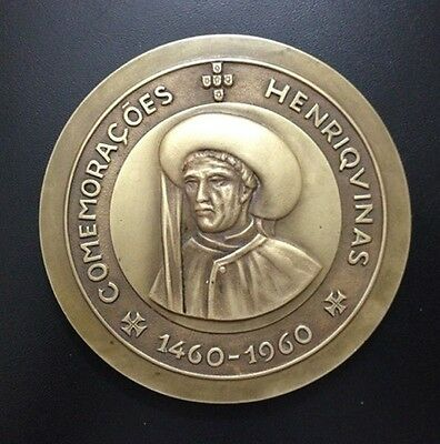 HENRY THE NAVIGATOR Portuguese Military Academy 1960 Gala Ball Large Medal / M62