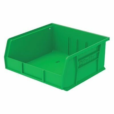 "Green Hang and Stack Bin, 10-7/8""L x 11""W x 5""H AKRO-MILS 30235GREEN"