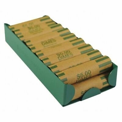 MMF INDUSTRIES 211011002 Rolled Coin Storage Tray, Green