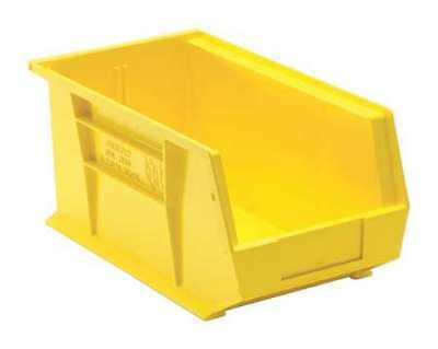 "Yellow Hang and Stack Bin, 14-3/4""L x 8-1/4""W QUANTUM STORAGE SYSTEMS QUS240YL"