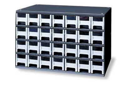 Drawer Bin Cabinet, 11 In. D, 17 In. W AKRO-MILS 19228