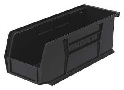 "Black Hang and Stack Bin, 10-7/8""L x 4-1/8""W x 4""H AKRO-MILS 30224BLACK"