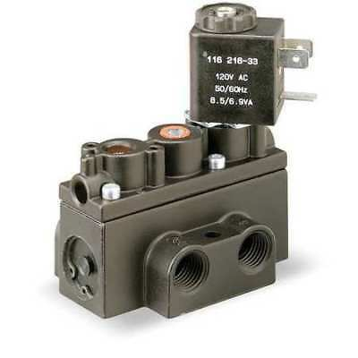 Solenoid Air Control Valve,1/4 In,120VAC ARO A212SS-120-A