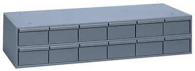 Drawer Bin Cabinet, 11-5/8 In. D, Gray DURHAM 013-95