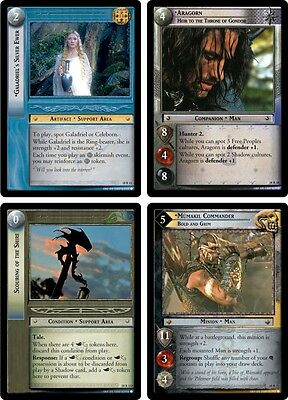 LOTR Lord of the Rings TCG : TREACHERY & DECEIT COMPLETE 140-CARD SET MINT