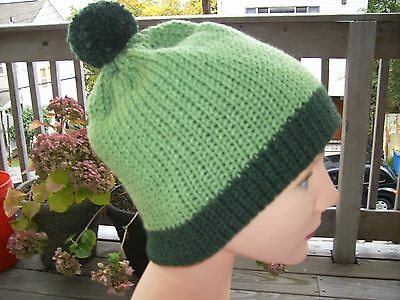 Handmade Knit hat South Park cosplay Kyle dark green and medium green