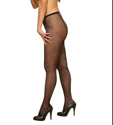 Fishnet Pantyhose With Back Seam New Adult Women Stockings Plus Size Black Color