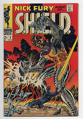 Marvel Comics  Nick Fury  Agent Of Shield  #2  1968  Higher Grade