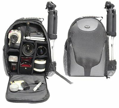 Camera/Camcorder Padded Backpack f/ Canon 70D 60D 6D 7D 40D 30D & MRE