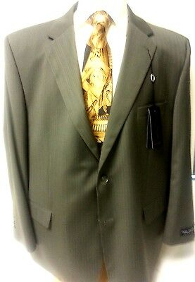 Big Men Suit New Henry Grethel Business Slacks 2 PC Piece Button Jacket Taupe