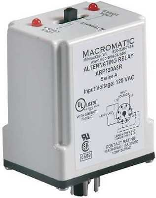 Alternating Relay,DPDT,120VAC,10A,8 Pin MACROMATIC ARP120A3R