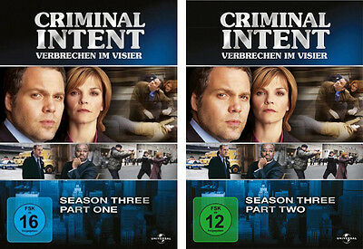 6 DVDs * CRIMINAL INTENT - SEASON / STAFFEL 3 ( 3.1 + 3.2 ) IM SET # NEU OVP +