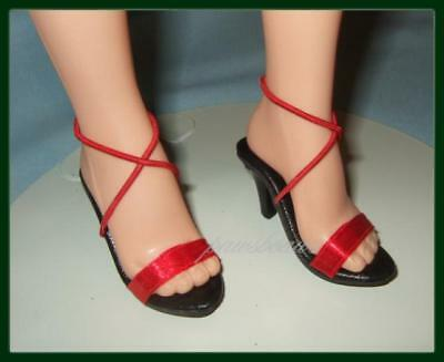 "RED Satin Sandals SHOES fit Madame Alexander 21"" 22"" Portrait SCARLETT O'HARA"