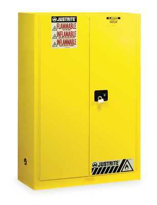 JUSTRITE 894500 Flammable Safety Cabinet, 45 Gal., Yellow