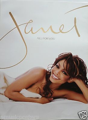 """JANET JACKSON """"ALL FOR YOU"""" U.S. PROMO POSTER - Cute Shot Of Janet Laying In Bed"""