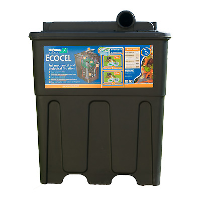 Hozelock Ecocel 10000 Fish Pond Filter System New
