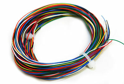 Digitrax DCC Decoder Wire 30AWG Stranded 90' 9 NMRA Colors x 10' Each 18001